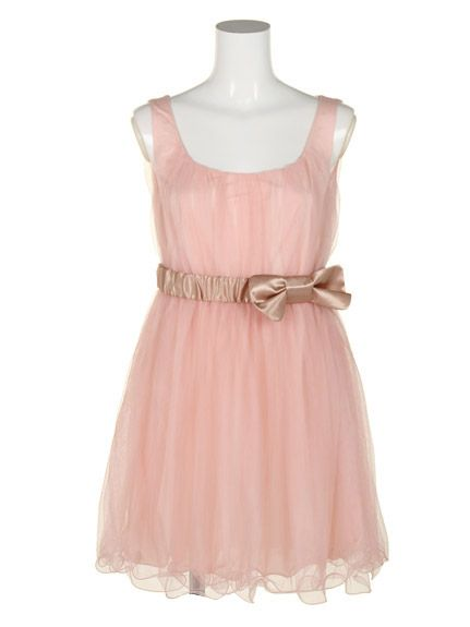 Tulle with Ribbon Belt Pink