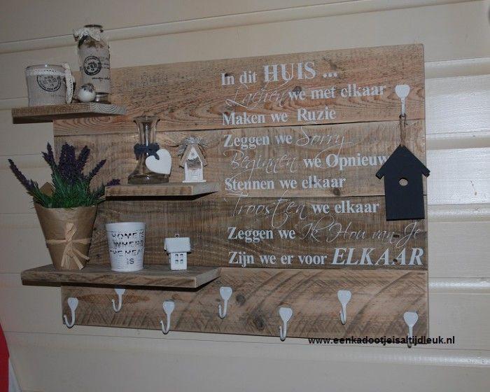 Aparte kapstok om zelf te maken pinterest kapstok en for Foto op hout maken eigen huis en tuin