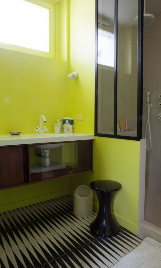 dco salle de bains verte - Salle De Bain Verte Et Noire