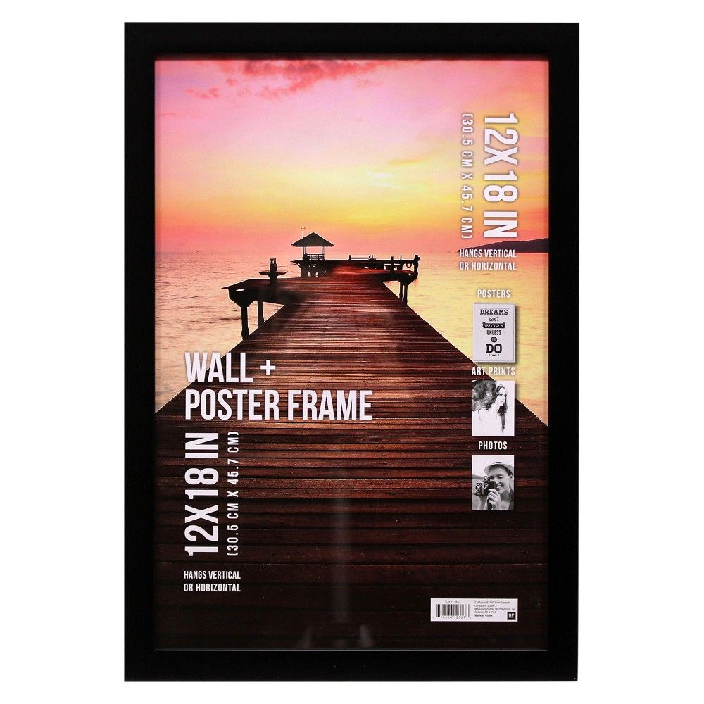 "Poster Frame 1 Profile - Black - (12""x18"")"