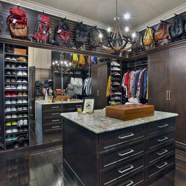 Top 100 best closet designs for men part two home - Mens walk in closet ...