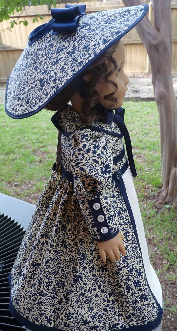 18 Doll Clothes Historical Dress and Hat Late by Designed4Dolls,  #clothes #Designed4Dolls #D... #historicaldollclothes