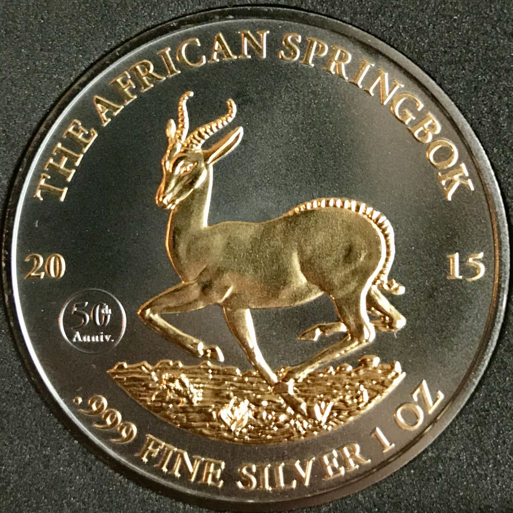 Zambia African Gazelle 2015 UNC Africa Wildlife Color Coin