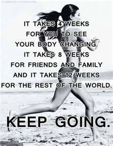 I need to remember this and not get discouraged the day after a workout when I'm still overweight!!! lol