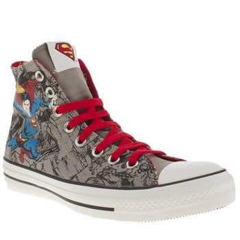 37b3c0b0f333 Men s Grey Converse All Star Print Dc Comic Superman at schuh ...