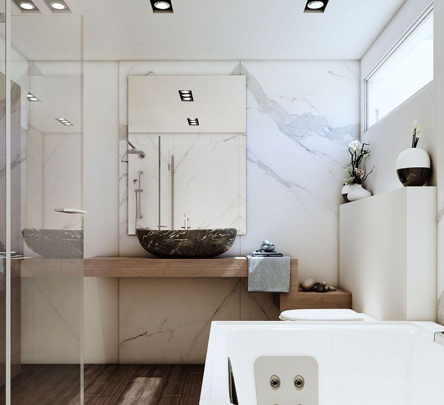 Bagno Bianco E Legno 20 Idee Di Arredo Dal Design Moderno Bagni