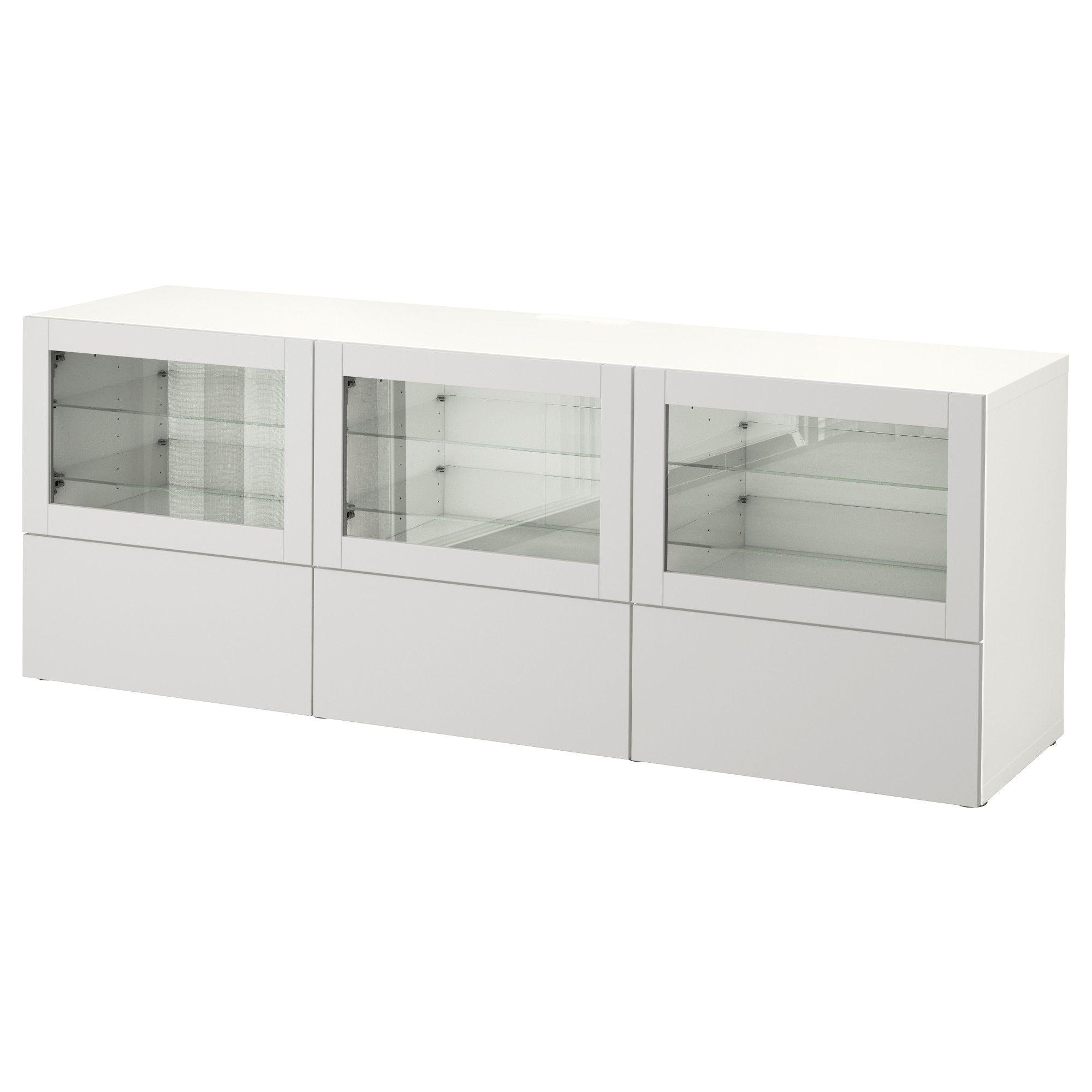 Bestå Tv Unit With Doors And Drawers White Lappviken Light Gray
