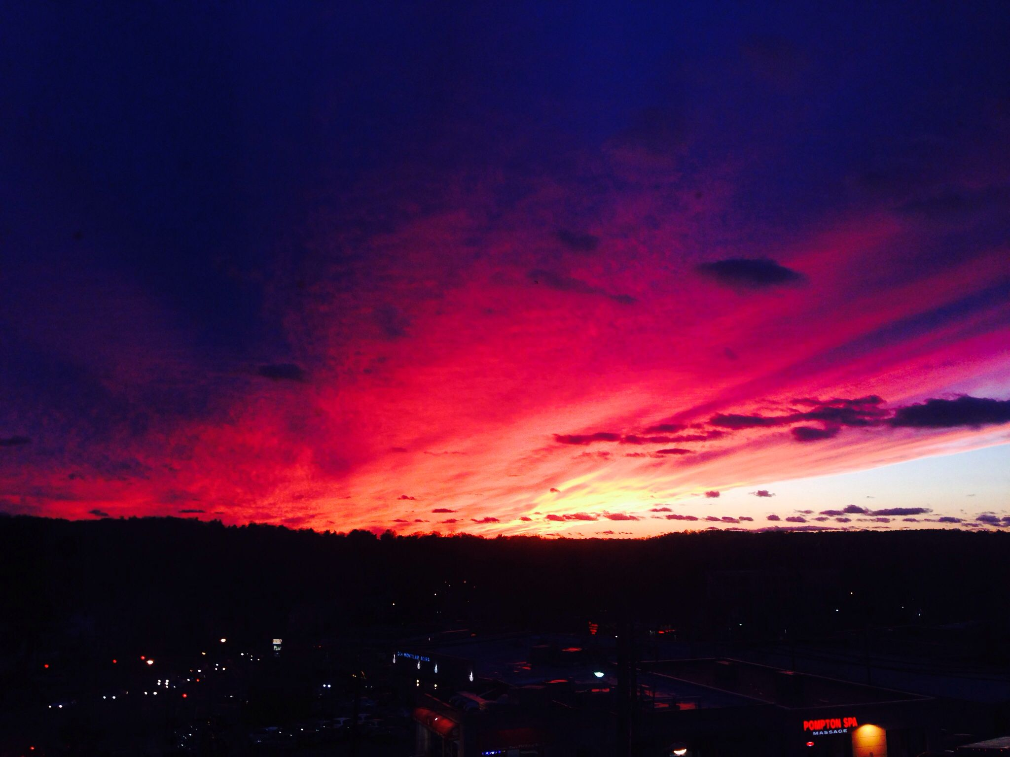 Let us take a moment to appreciate the stunning sunset we had ...