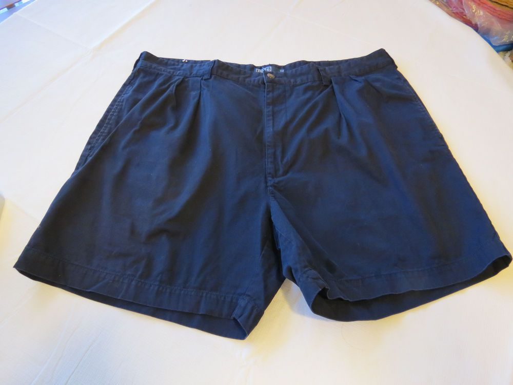 Men's Polo by Ralph Lauren Andrew Short 42 navy blue cotton Shorts ...