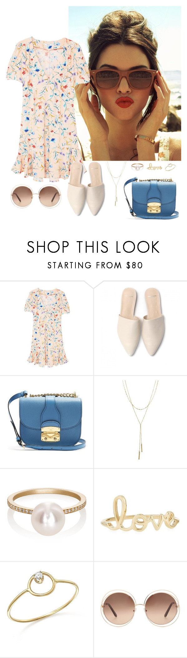 """""""Untitled #57"""" by rafieldshow ❤ liked on Polyvore featuring MANGO, Miu Miu, Bloomingdale's, Sophie Bille Brahe, Sydney Evan, ZoÃ« Chicco and Chloé"""