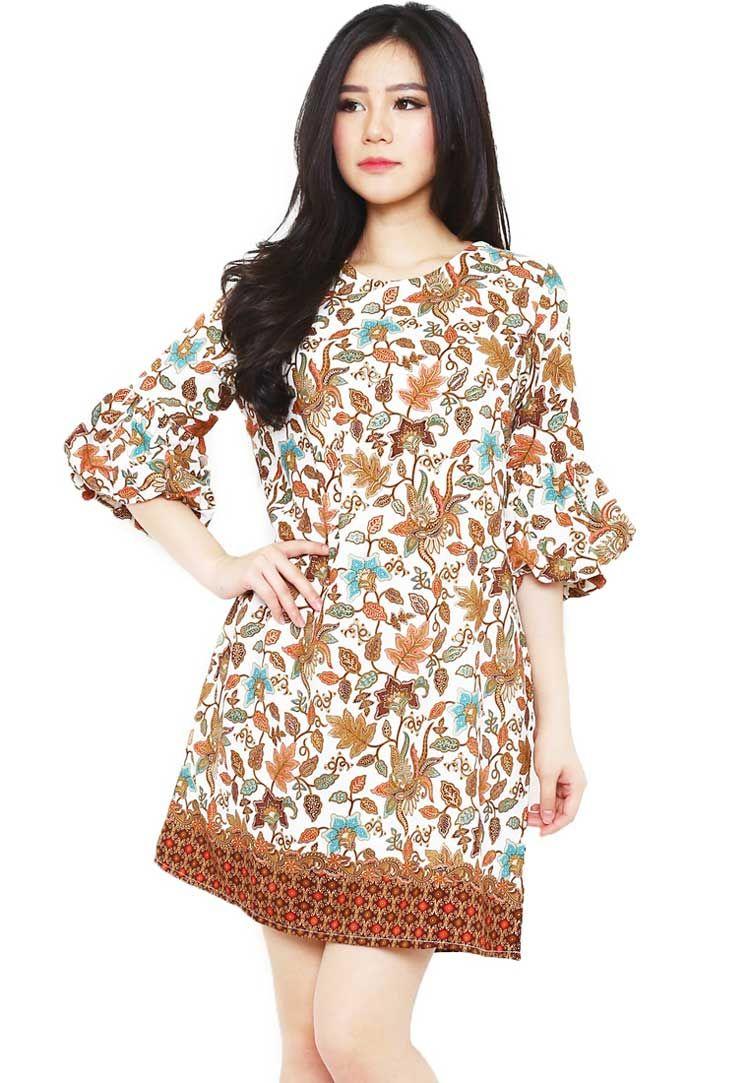 77 Desain Baju Batik Dress Wanita di 2020 | Wanita, Gaun ...