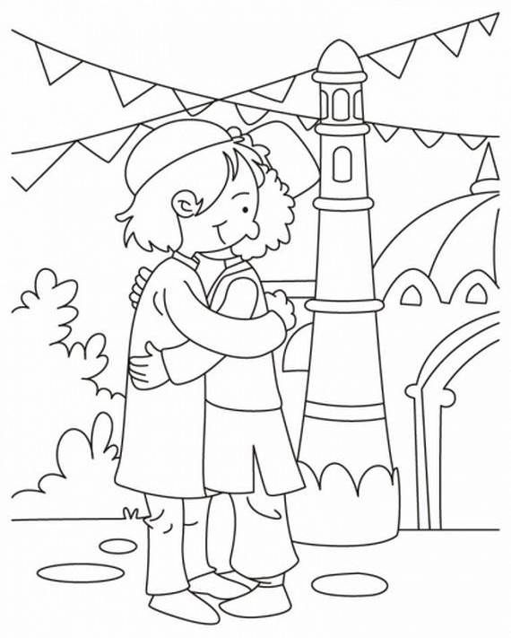 muslim holidays coloring pages - photo#3