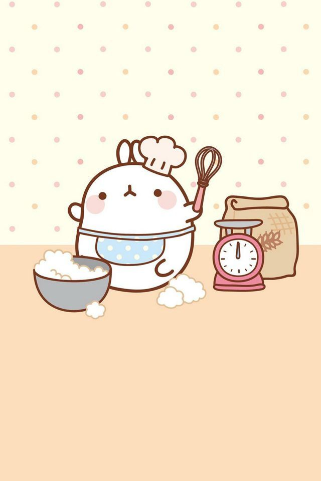 Molang Cooking Molang Kawaii Wallpaper Molang Kawaii