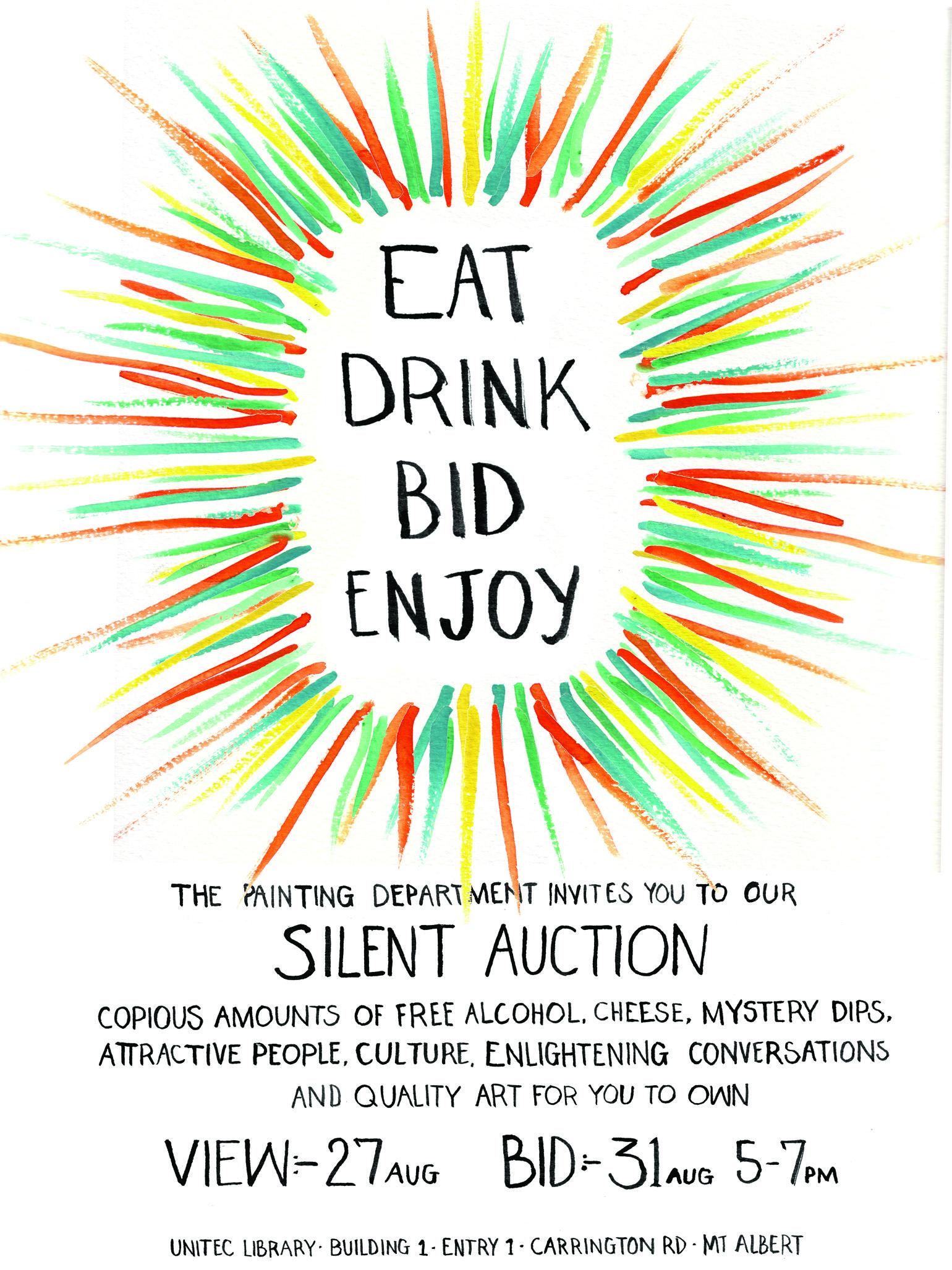 silent auction flyer