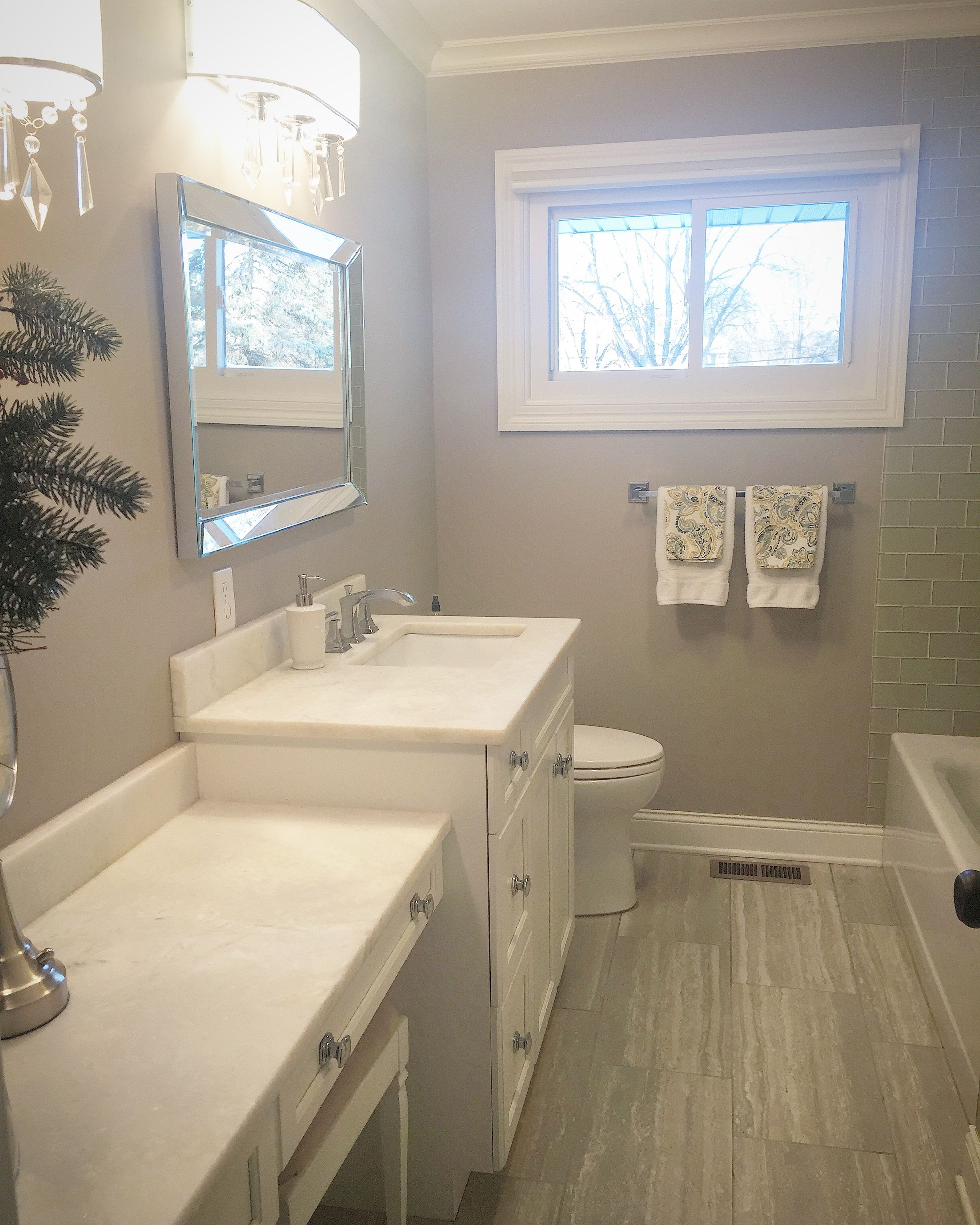 Beautiful master bathroom! Www.ladiesrenovate2.com ...