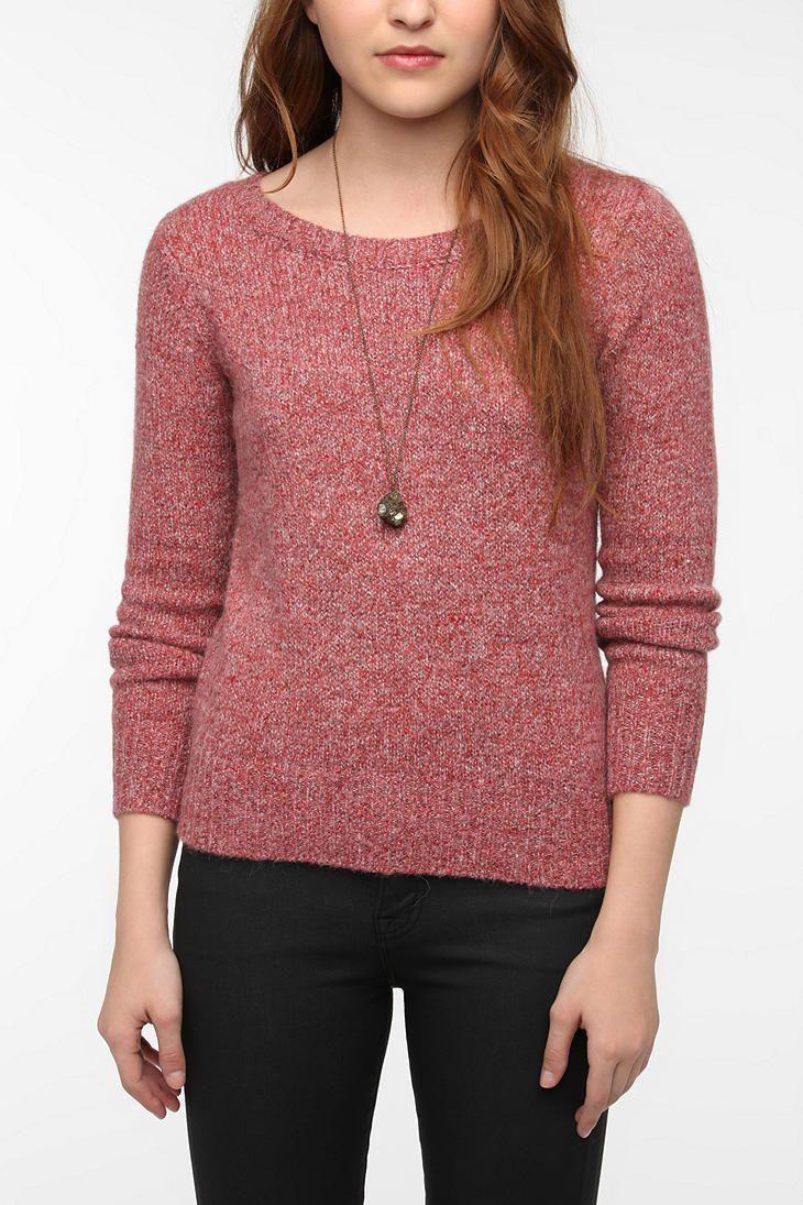 Silence & Noise Fuzzy Zip-Back Sweater