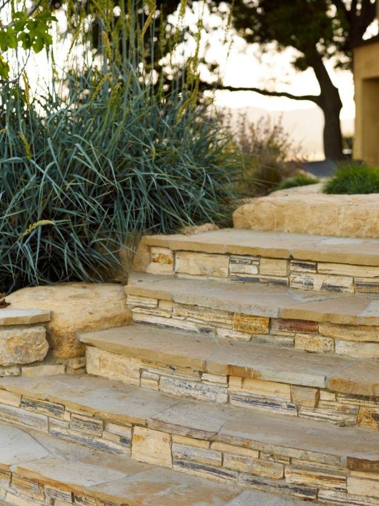 steinplatten-terrasse-terrassenplatten-mediterran-exotisch-garten, Hause und Garten