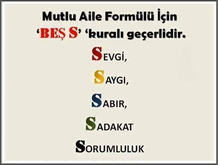 Mutlu Aile Formulu Favorite Quotes Quotes Psychology