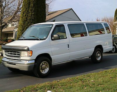 1997 Ford E350 15 Passenger Van 7 3 Powerstroke Diesel 7 3l 15 Passenger Van Ford E Series Van For Sale
