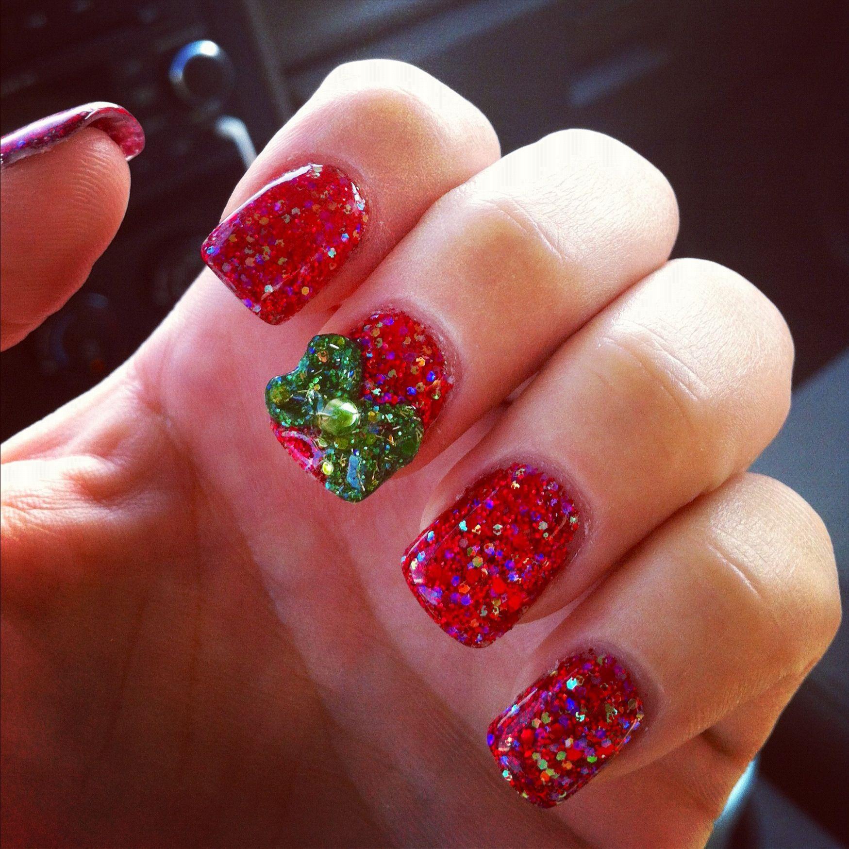 Christmas nails all acrylic! | Nails | Pinterest