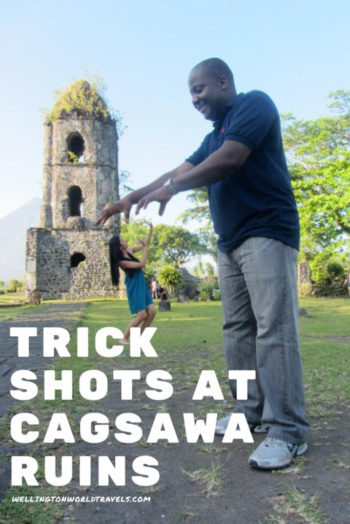 Photo Trick Shots At Cagsawa Ruins Albay Philippines Wellington World Travels Albay Philippines Trick Shots
