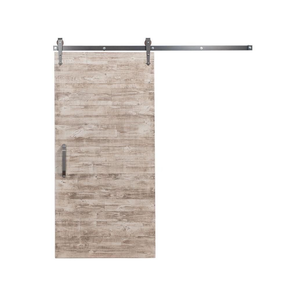 Rustica Hardware 42 in. x 84 in. Rustica Reclaimed White Wash Wood ...