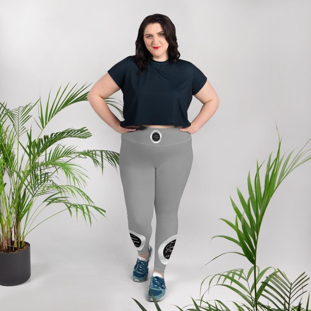 Plus Size Leggings -Custom Designed Product - Standard / 2XL / Black