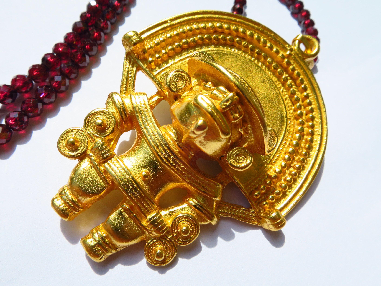 4 Anhänger als Mund in antik Bronze