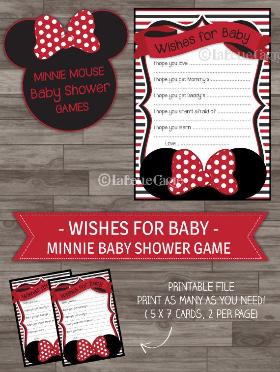 Minnie Mouse Baby Shower Games Minnie Baby Shower by LaBelleStudio, $5.00
