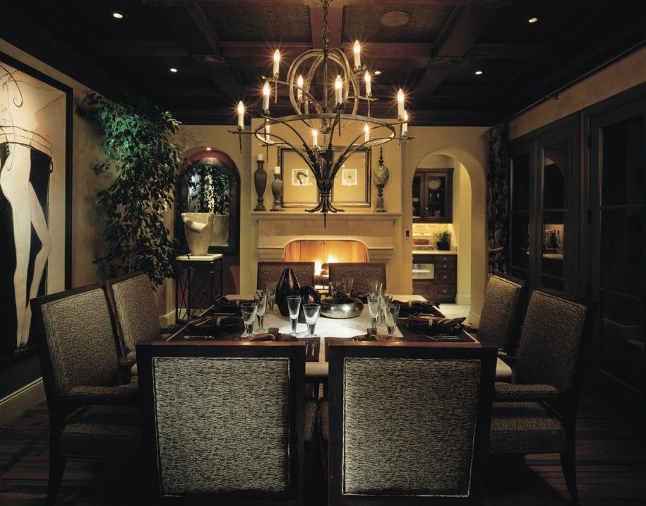 Dining Room Inspiration With Fireplace Antique Chandeliers