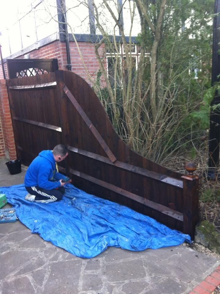 Brown Feather Edge Fence We Installed In London With Images