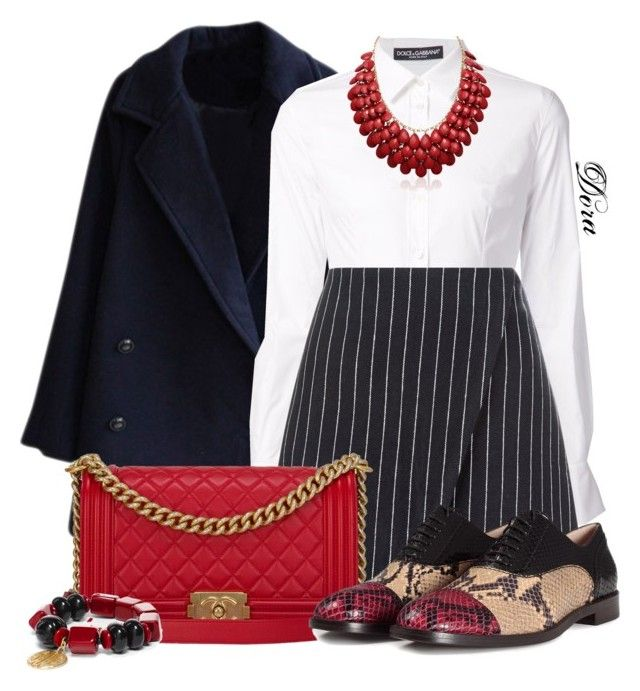 """Senza titolo #6095"" by doradabrowska ❤ liked on Polyvore featuring Dolce&Gabbana, New Look, Chanel, Marc Jacobs, Chico's and Adoriana"