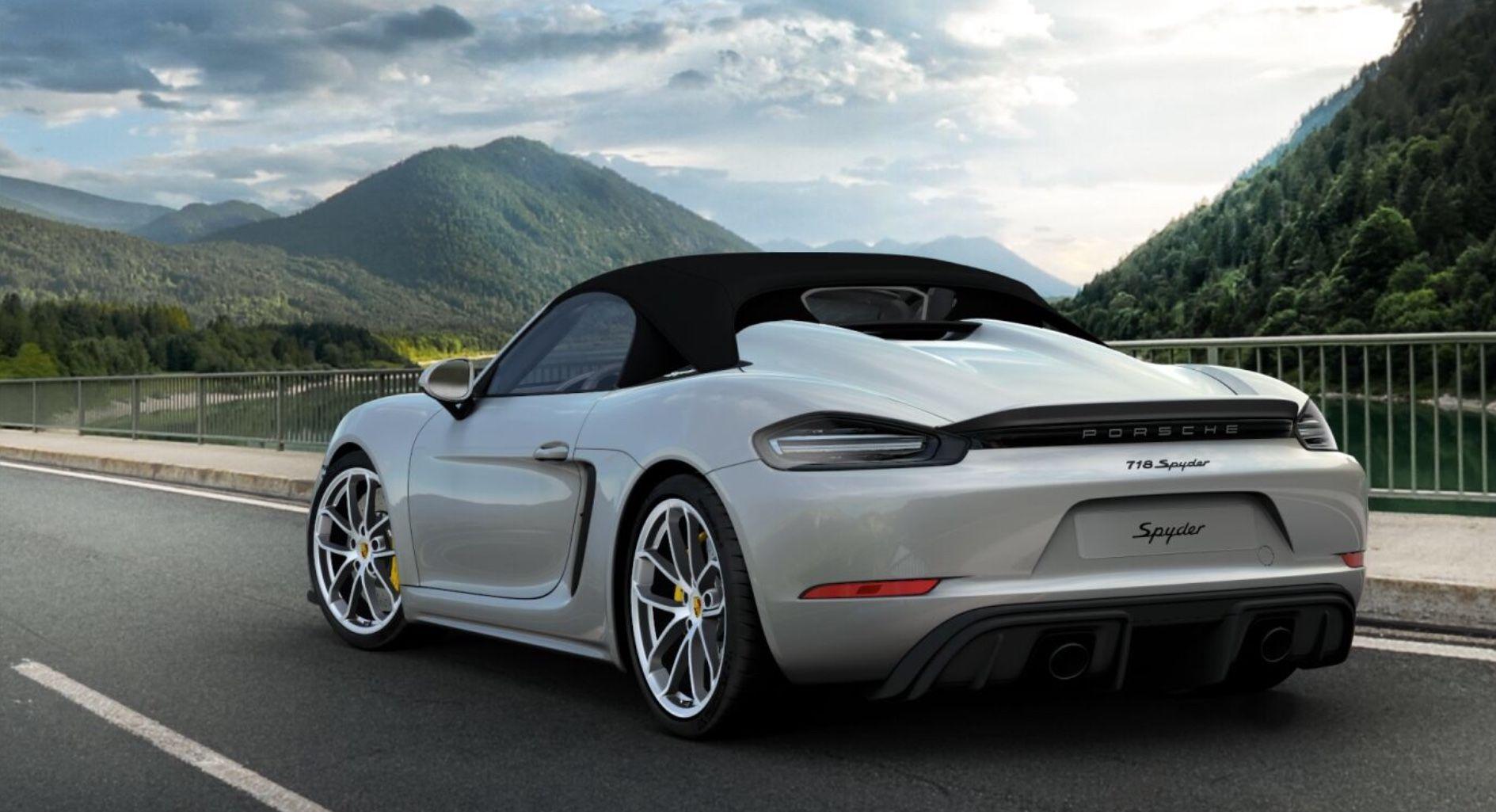 2020 Porsche 718 Boxster Spyder GT Silver   Porsche cars ...
