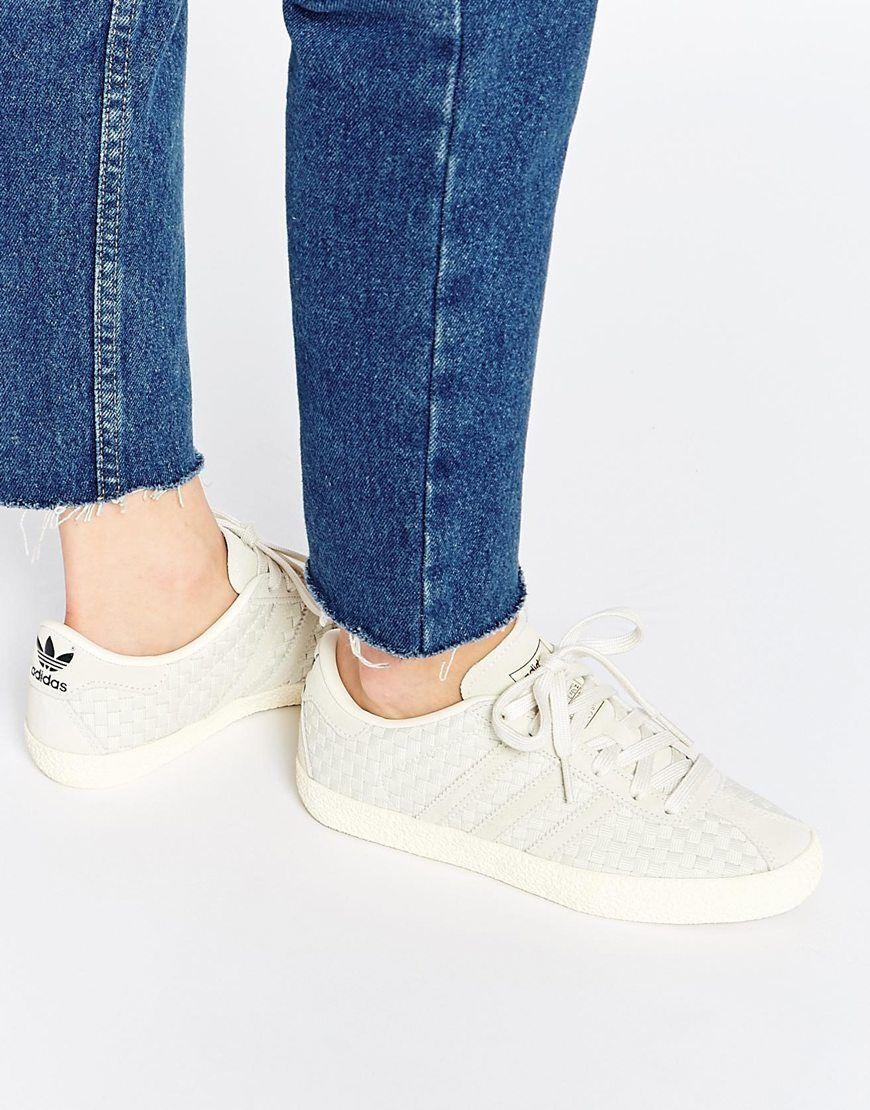 adidas originals beige gazelle sneakers