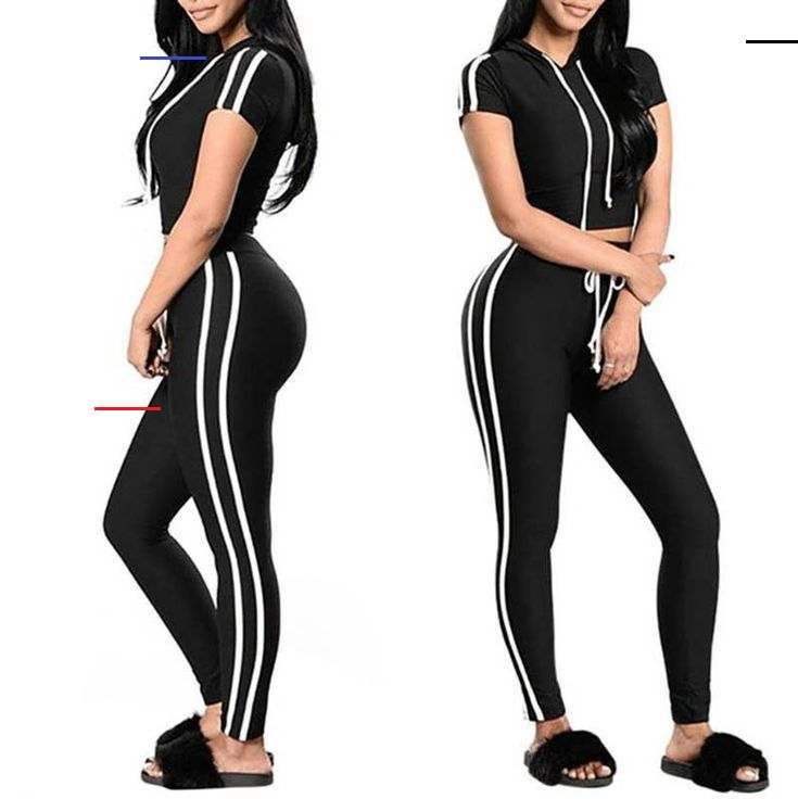 Sport Suit Women Fitness Yoga Set Gym Sports Running Hooded Patchwork Tracksuit ... - #fitness #gym...
