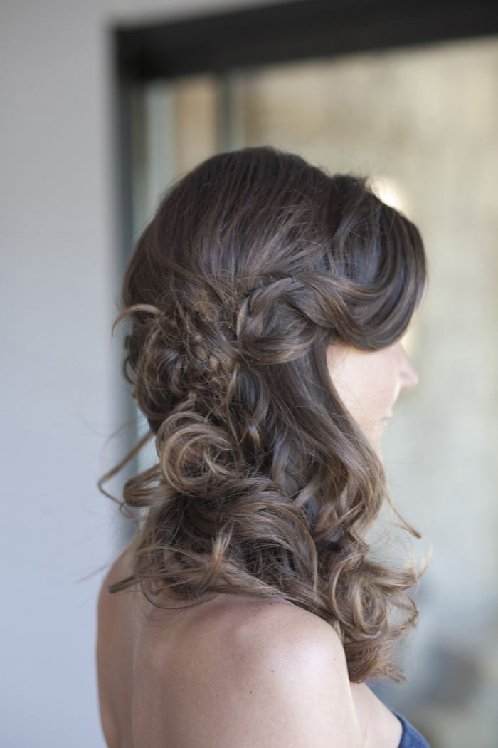 Coiffure mariage chic bohème cheveux long Coiffure