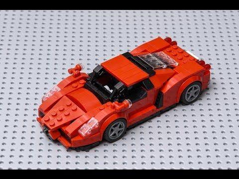Custom LEGO speed champions car moc made un the rare dark