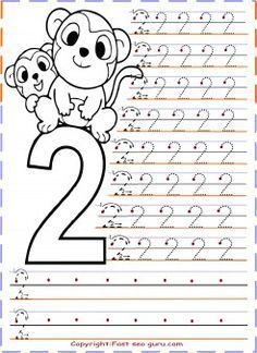 Free Printables Numbers Tracing Worksheets 2 For Kindergarten