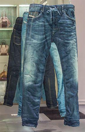 Diesel - Jogging pants with jeans look  bf524215c1