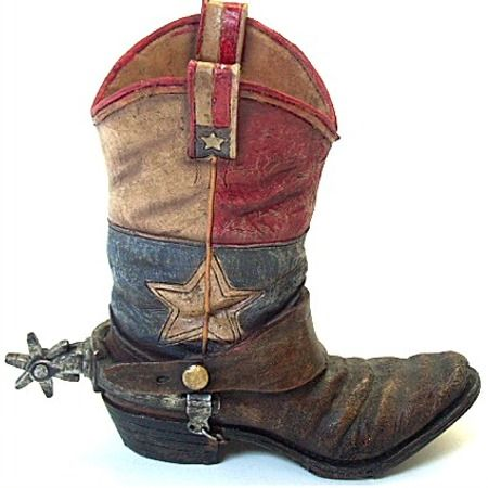 Flag Cowboy Boot Vase Texas Flag Home decor Pinterest