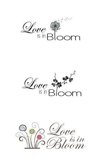 love is in bloom logo by filiz turan via behance bridal shower rh pinterest com Bridal Shower Labels Bridal Shower Clip Art