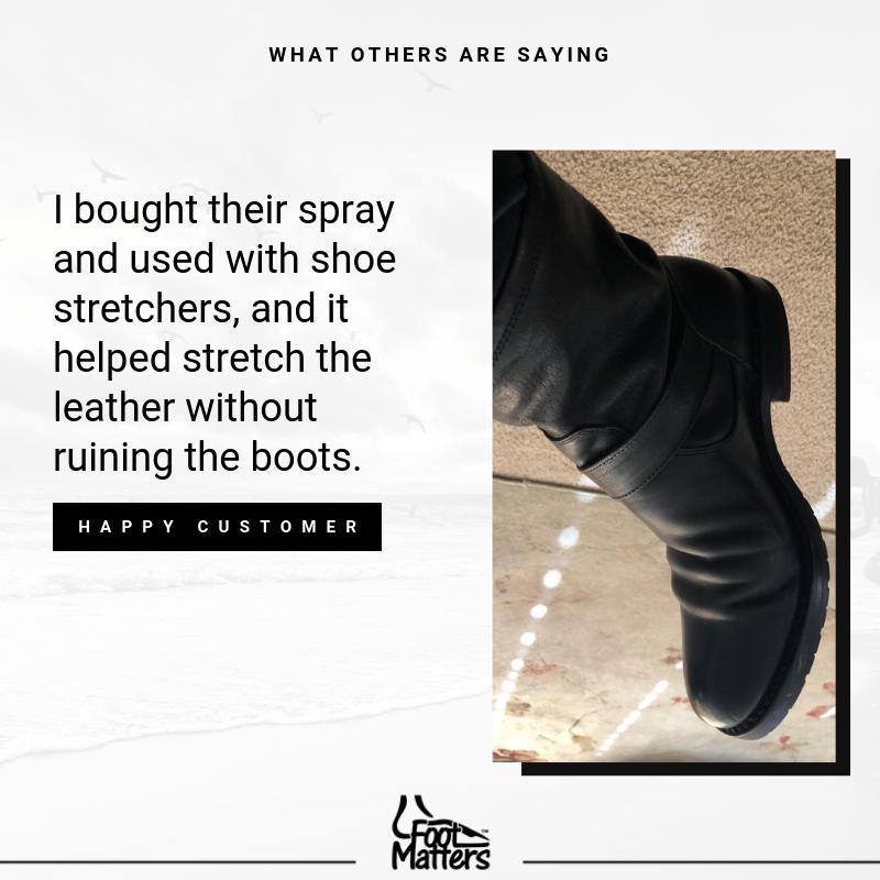 Shoe Stretch Spray How To Stretch Shoes Shoe Boots Shoe Stretcher