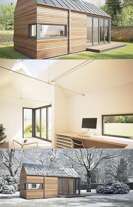 backyard offices by british company pod space new cube pinterest haus gartenhaus und garten. Black Bedroom Furniture Sets. Home Design Ideas