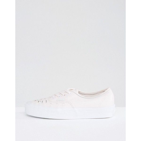 Vans Authentic Premium Trainers In Pink Weave (£70) ❤ liked on Polyvore featuring shoes, sneakers, multi, slip-on sneakers, high top skate shoes, vans high tops, vans shoes and pink sneakers