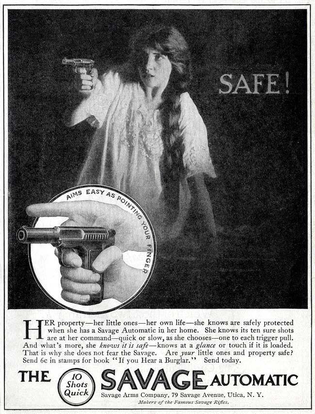 Safe! Cool Vintage Gun Ads