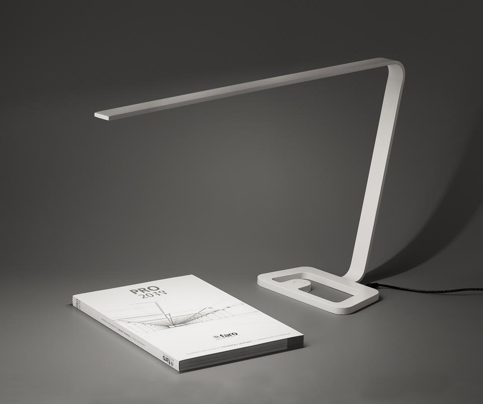 Yap lampe de bureau design LED blanche Faro Style design et