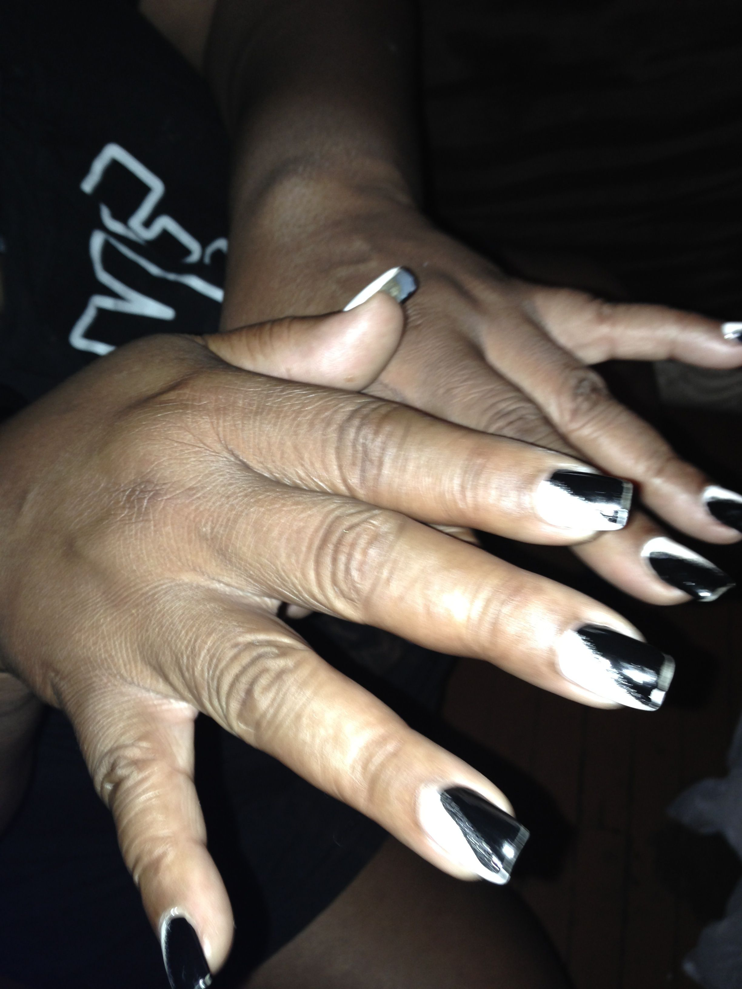 My mother\'s nails for my great grandmother\'s funeral. | Nail designs ...
