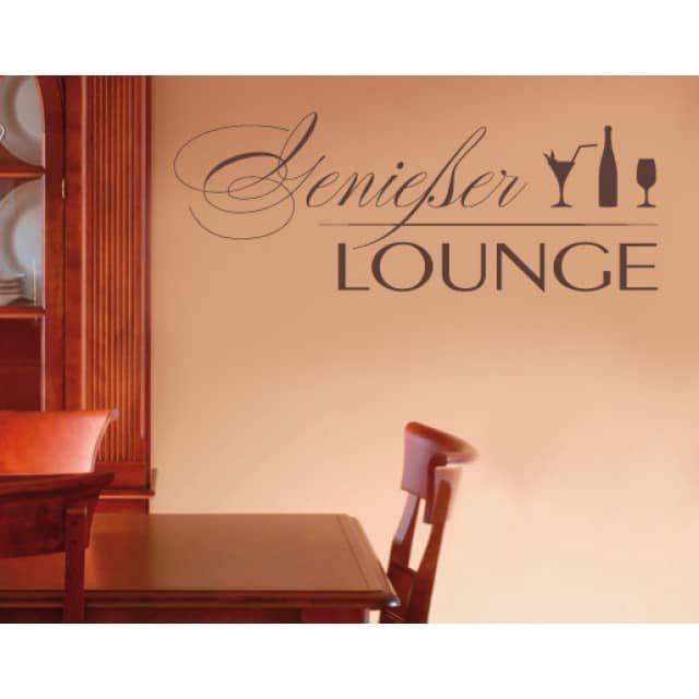 Ein schönes Motiv für die Küche ist das Wandtattoo Genießer Lounge