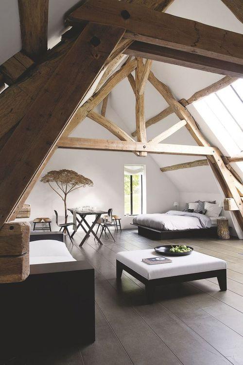 Rénovation maison ancienne à la campagne, en Normandie   Dachstuhl ...
