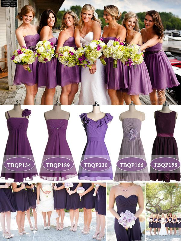 Purple: The Color for Bridesmaids 2014 | Shorts, Bridesmaid dress ...